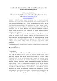A study on the Recreational Values of the Gaomei Wetland in ...