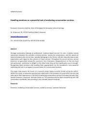 Handling emotions as a powerful tool of marketing conservation ...