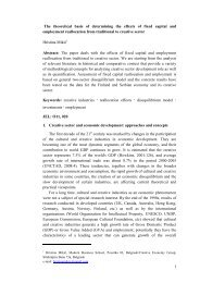 The theoretical basis of determining the effects of fixed capital and ...