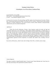 Designing Cultural Policies: Evaluating the Case of Puerto Rican ...