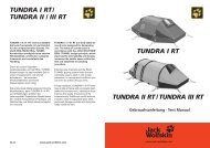 TUNDRA I / II / III RT sind sturmstabile Allround ... - Jack Wolfskin