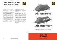 LAST RESORT II RTI LAST RESORT III RT - Jack Wolfskin