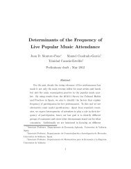 Determinants of the Frequency of Live Popular Music Attendance