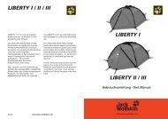 LIBERTY I / II / III sind sturmstabile Kuppelzelte mit ... - Jack Wolfskin