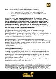 Pressemitteilung downloaden - Jack Wolfskin