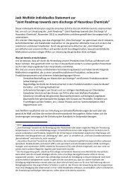"""Jack Wolfskin individuelles Statement zur """"Joint Roadmap towards ..."""