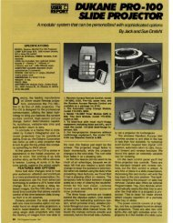 Dukane Pro 100 Slide Projector - Jack and Sue Drafahl