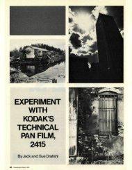 Experiment with Kodak Tech Pan Film - Jack and Sue Drafahl