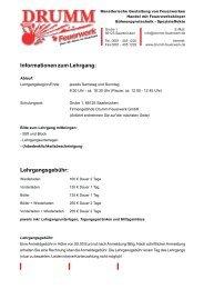 Informationen zum Lehrgang - Drumm Feuerwerk Gmbh Jägersfreude