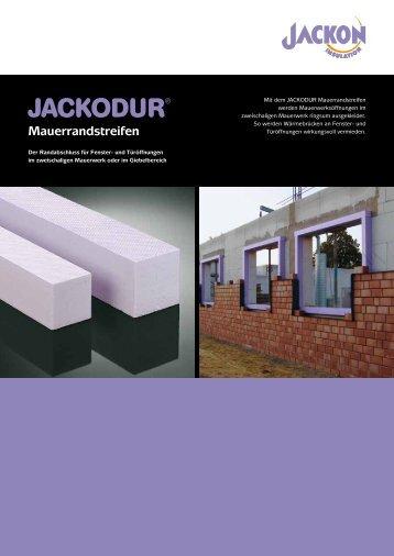 JACKODUR Mauerrandstreifen Produktblatt - Jackon Insulation