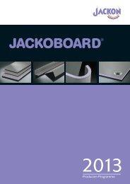 JACKOBOARD Producten Programma - Jackon Insulation