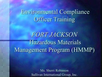 ECOC-Hazardous Material Management - Chapter 5 - Fort Jackson