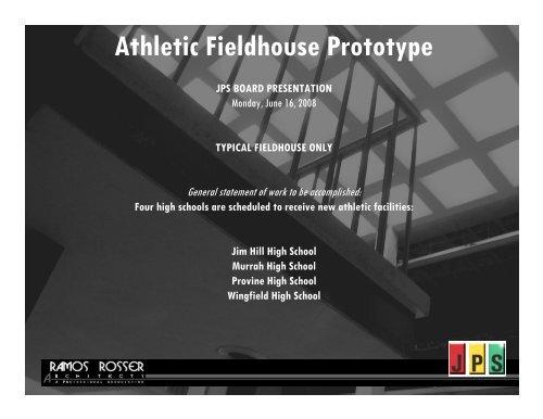 Athletic Fieldhouse Prototype - Jackson Public Schools