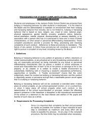 JCBAA-Procedures PROCEDURES FOR STUDENT COMPLAINTS ...