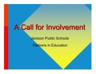 A Call for Involvement - Jackson Public Schools