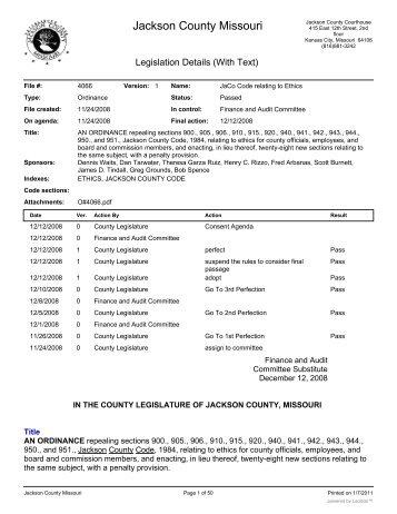 Jackson County Property Tax Statements