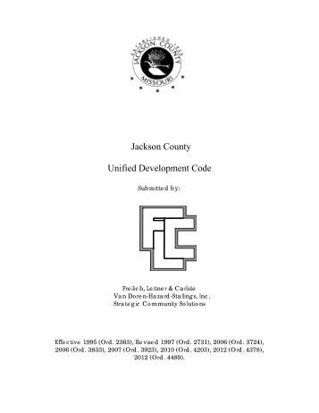 Jackson County Unified Development Code - JacksonGov.org