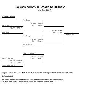 JACKSON COUNTY ALL-STARS TOURNAMENT ... - JacksonGov.org