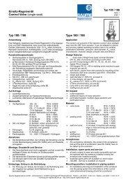 Einsitz-Regelventil Typ 180 / 186 - Daume Regelarmaturen Gmbh