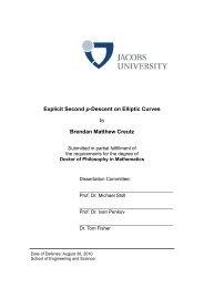 Explicit Second p-Descent on Elliptic Curves Brendan Matthew Creutz