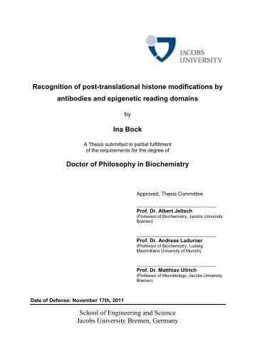 PhD Thesis of Ina Bock - digital version - Jacobs University