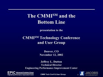 CMMI - Jacobs Technology