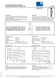 Druckminderstation mit Filter Typ 85A - Daume Regelarmaturen Gmbh