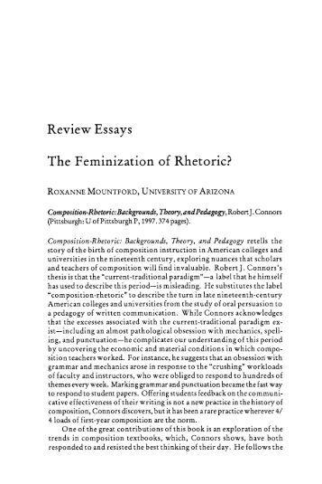 Feminization Theory Essay Sample
