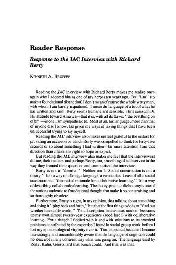 Reader response essay