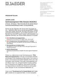 Seminarprogramm Villa Venezia 2010/2011 - Paul Jaeger GmbH ...