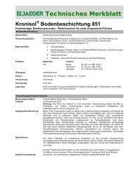 Technisches Datenblatt - Paul Jaeger GmbH & Co. KG