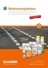 Prospekt Markierungsfarben - Paul Jaeger GmbH & Co. KG