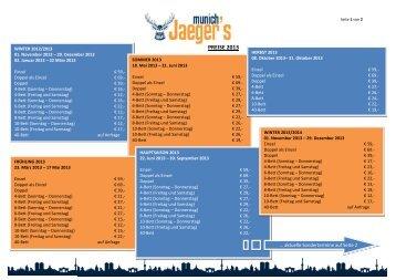 Standardpreise Download - Jaeger´s Hostel München