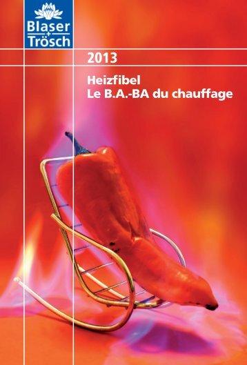 Heizfibel Le B.A.-BA du chauffage
