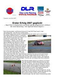 Erster Erfolg 2007 geglückt - Dau Line Racing
