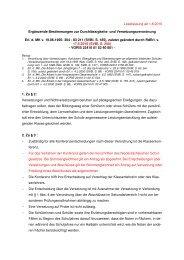 Ergänzende Bestimmungen - JAG info