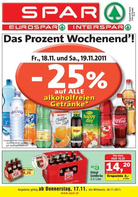Das Prozent Wochenend'!