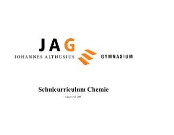 Schulcurriculum Chemie
