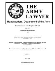 July 2009 Army Lawyer (Special Joint Edition) - U.S. Navy Judge ...