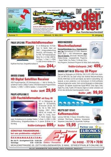 der reporter - Das Familienwochenblatt für Fehmarn 2014 KW 11
