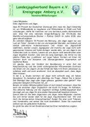 Landesjagdverband Bayern e.V. Kreisgruppe Amberg e.V.
