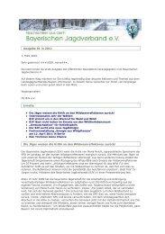 BJV-Newsletter 01. März 2011 - Landesjagdverband Bayern