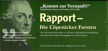 Rapport- Die Cöpenicker Forsten - jagdkultur.eu