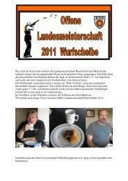 LM Wurfscheibe 2011 - Jagd & Sportschützen Marl eV