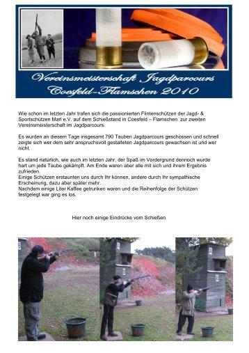 Jagdparcours Coesfeld Flamschen 2010 - Jagd und Sportschuetzen ...