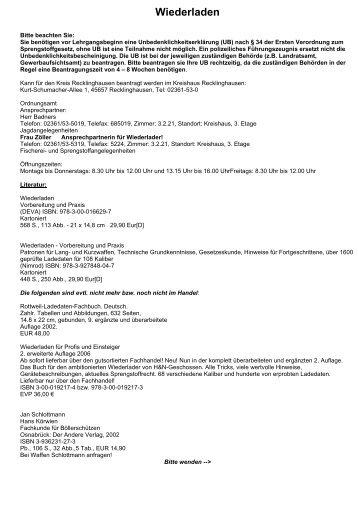 Wiederladen - Jagd und Sportschuetzen Marl eV