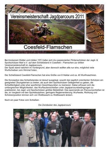 VM Wurfscheibe Jagdparcours 2011 - Jagd & Sportschützen Marl eV
