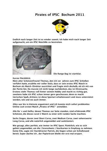 Pirates of IPSC Bochum 2011 - Jagd und Sportschuetzen Marl eV