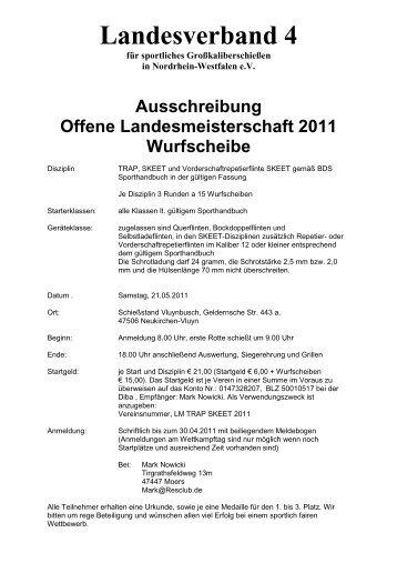 Landesverband 4 - Jagd & Sportschützen Marl eV