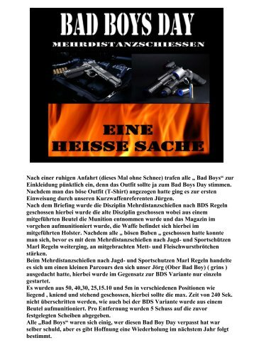 Bad Boy Day 20.03.2010 - Jagd & Sportschützen Marl eV